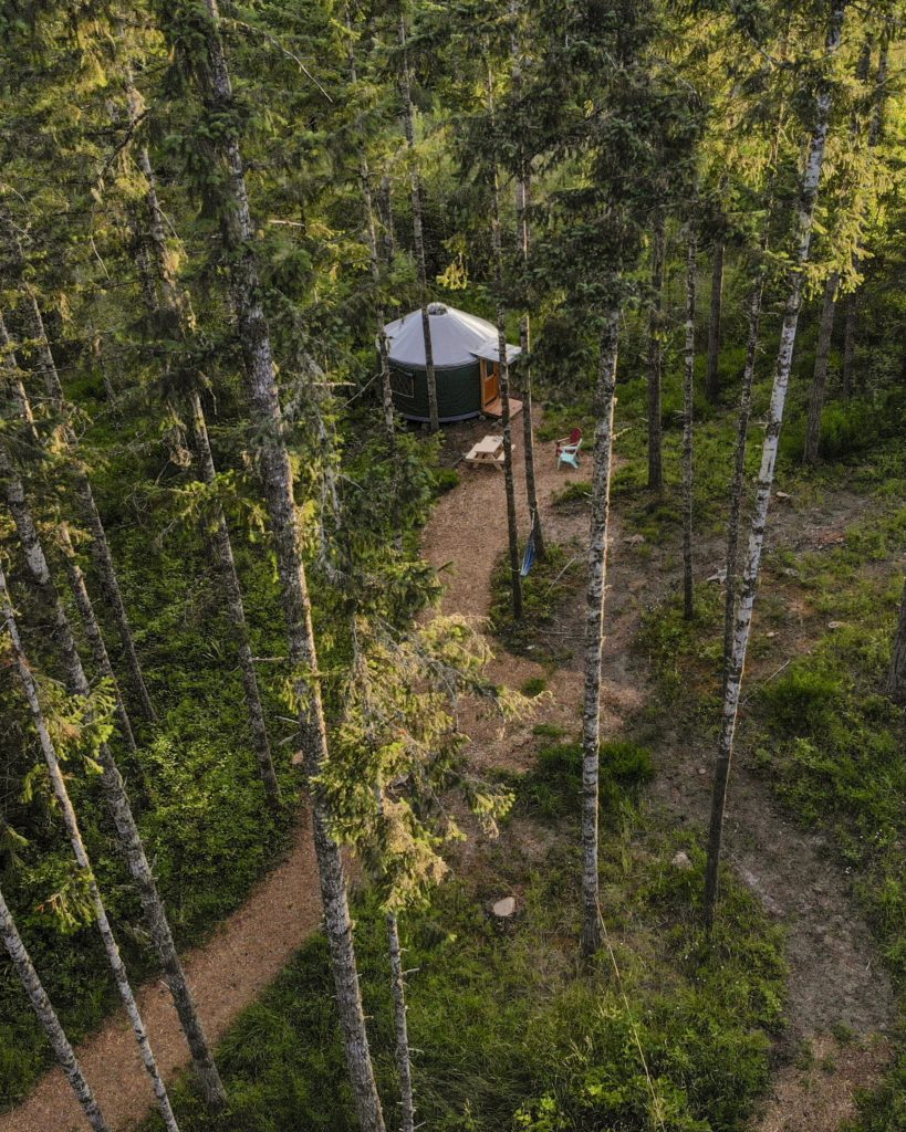 Duck Yurt From Above