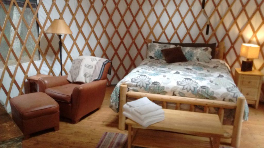 Inside Chinook Yurt